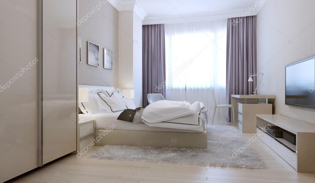 Slaapkamer Scandinavische stijl — Stockfoto © kuprin33 #77521440