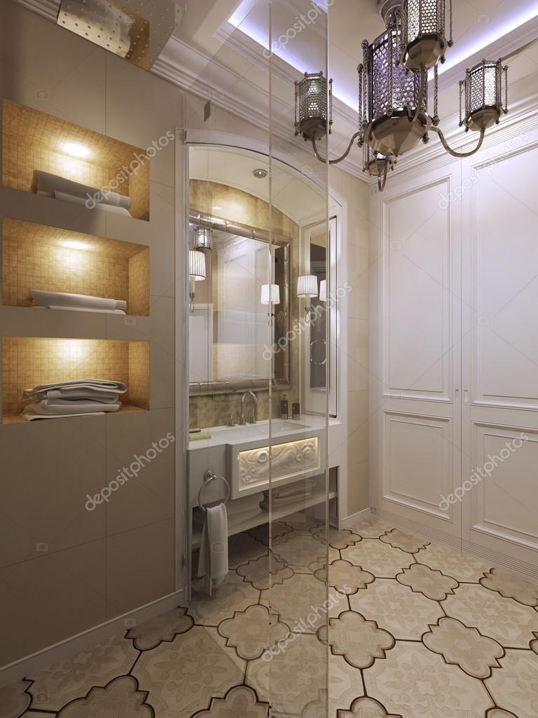 Arabische badkamer met shover — Stockfoto © kuprin33 #77521722