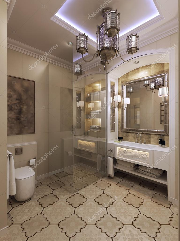 Arabische badkamer Marokkaanse stijl — Stockfoto © kuprin33 #77521732