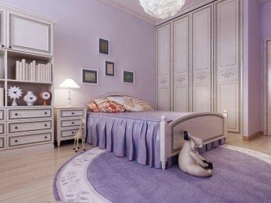 Art deco cozy bedroom idea
