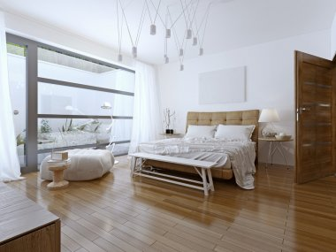 Bright bedroom contemporary style