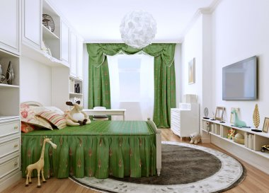 Children's bedroom in a classic style.