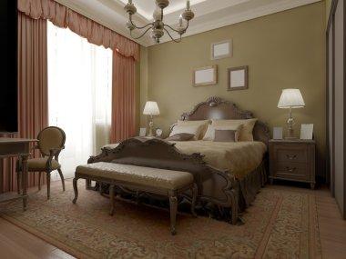 Vintage classic bedroom interior