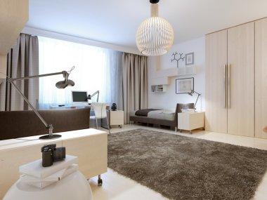 Design of contemporary bedroom