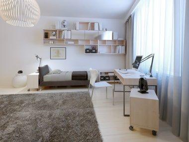 Teenage room minimalist style
