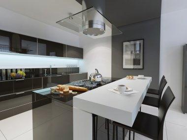 Black and white kitchen trend