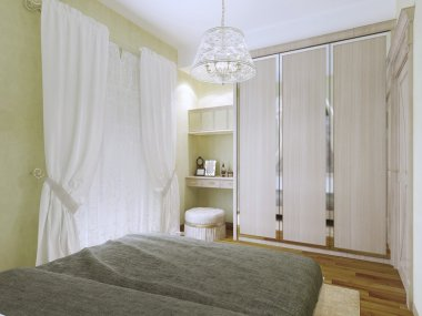 Small bright art deco bedroom trend