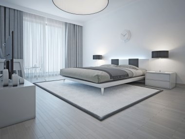 Spacious contemporary styled bedroom