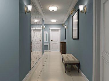 Luxury entrance hall art deco design