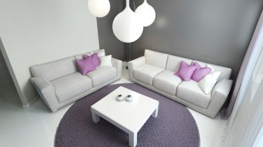 Design of contemporary sitting room