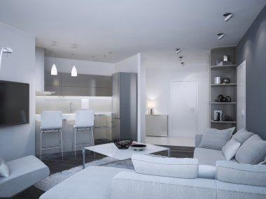 Minimalist apartment studio