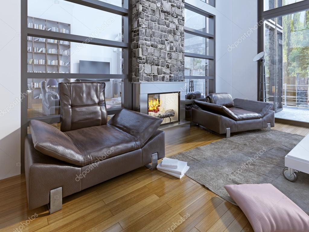 Elegant Moderne Sitzecke Referenz Von Modernes Warm — Stockfoto