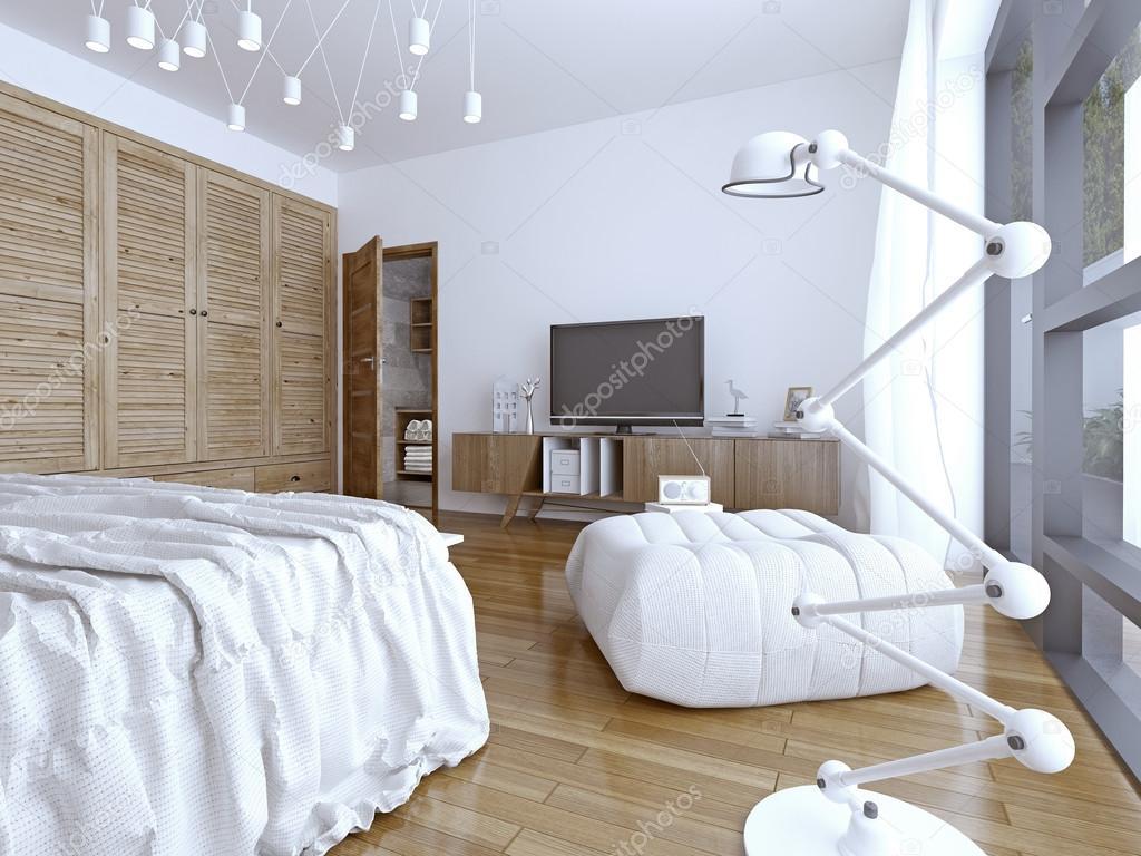 밝고 새로운 유럽 침실 인테리어 — 스톡 사진 © kuprin33 #83411400