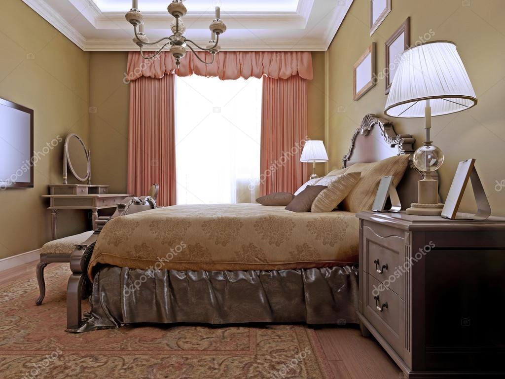 Klassieke Engelse slaapkamer ontwerp — Stockfoto © kuprin33 #83412848