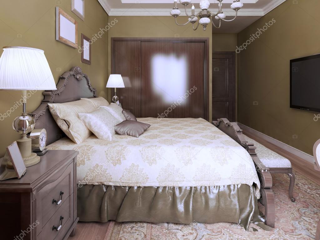 Idea di stile inglese moderno camera da letto — Foto Stock ...