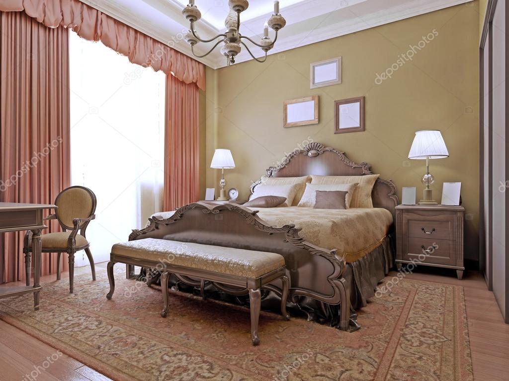 Dure slaapkamer art decostijl u stockfoto kuprin