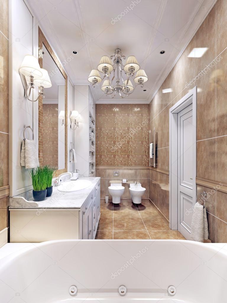 Sierlijke badkamer art deco design — Stockfoto © kuprin33 #83413370