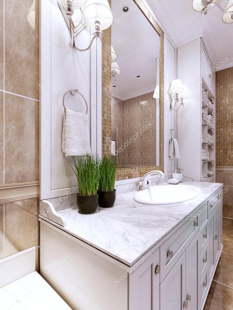 Tendance salle de bains art déco — Photographie kuprin33 © #83413398