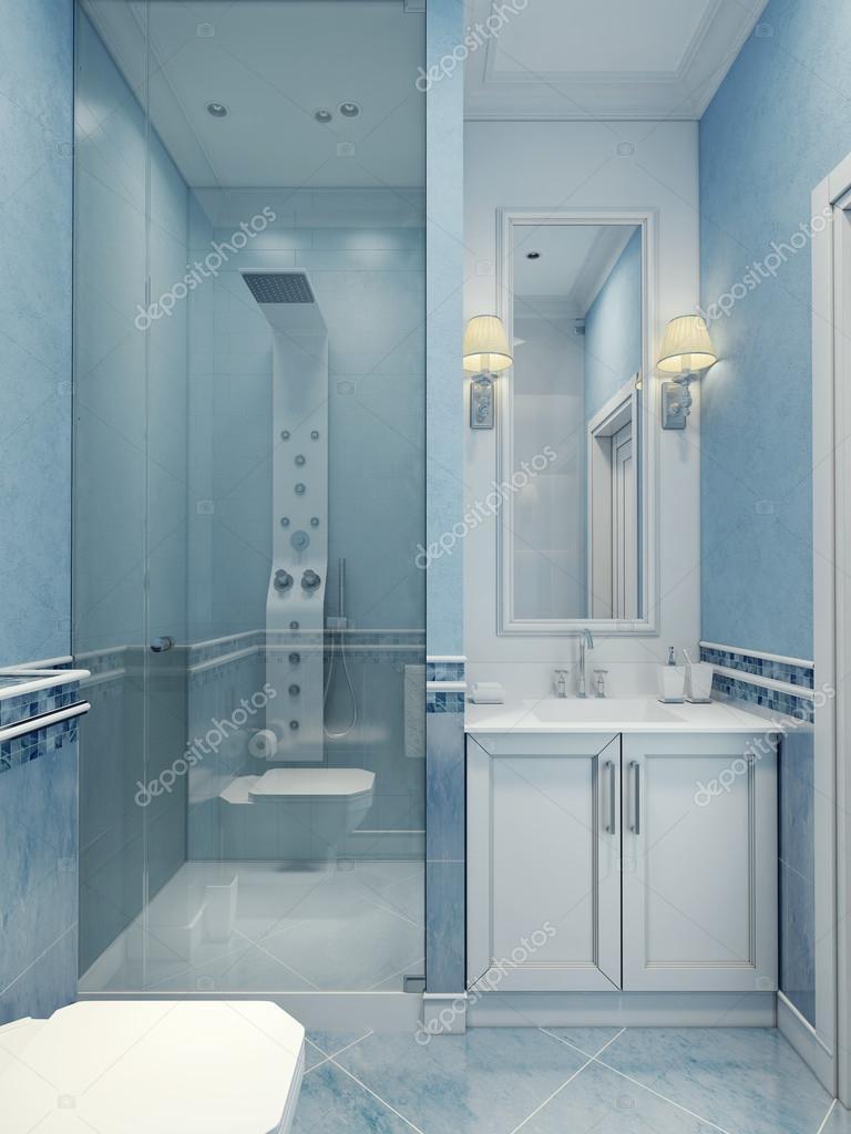 Design der Badezimmer blau — Stockfoto © kuprin33 #83413424