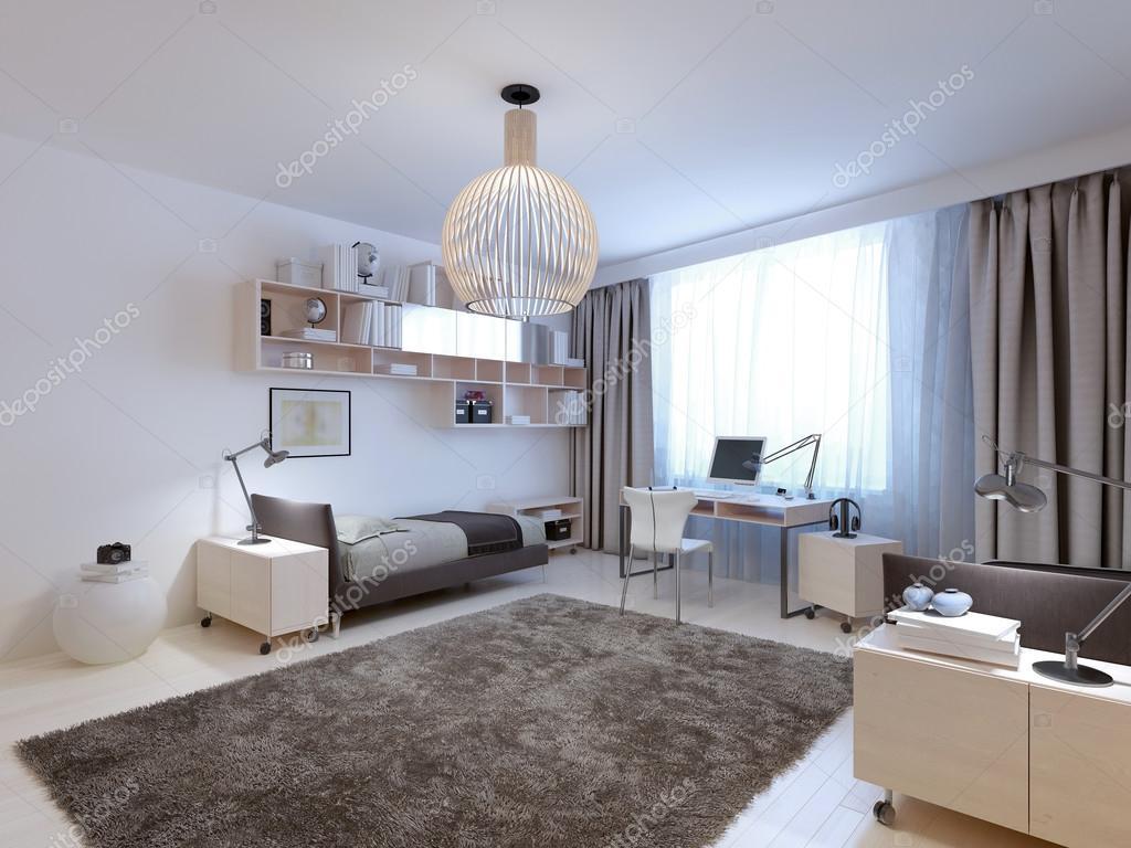 idee van tieners hedendaagse slaapkamer stockfoto