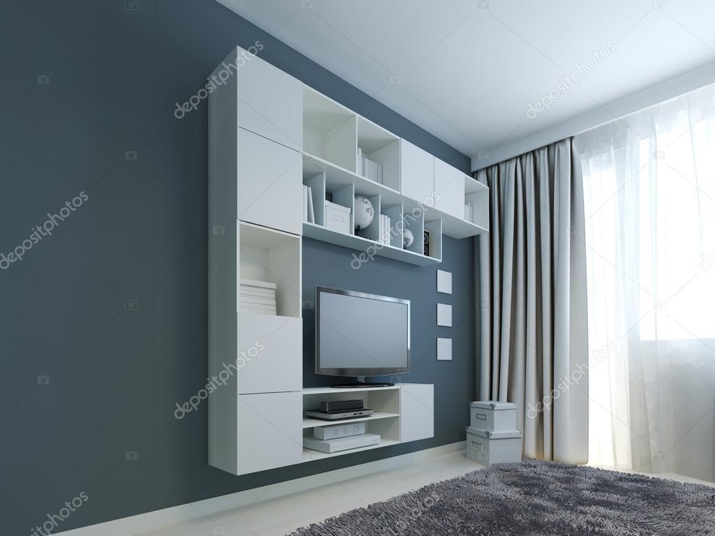 Soggiorno con tendenza armadio muro foto stock for Armadio soggiorno