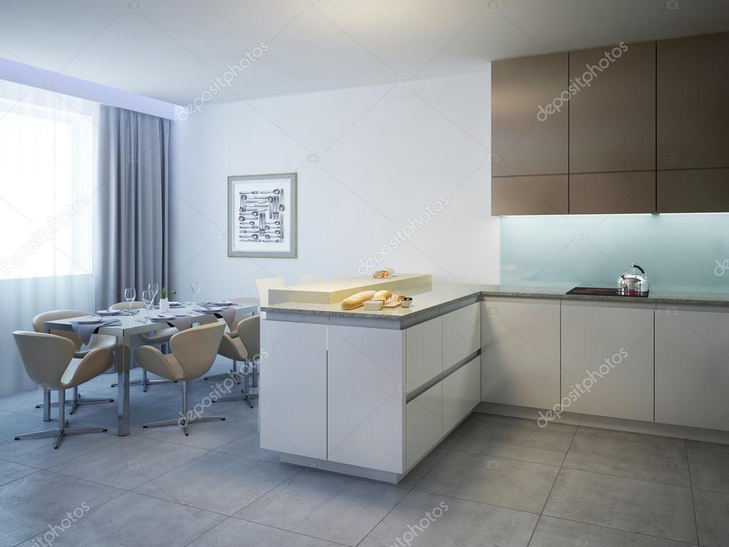 Cozinha Com Mesa De Jantar Estilo Contempor Neo Fotografias De