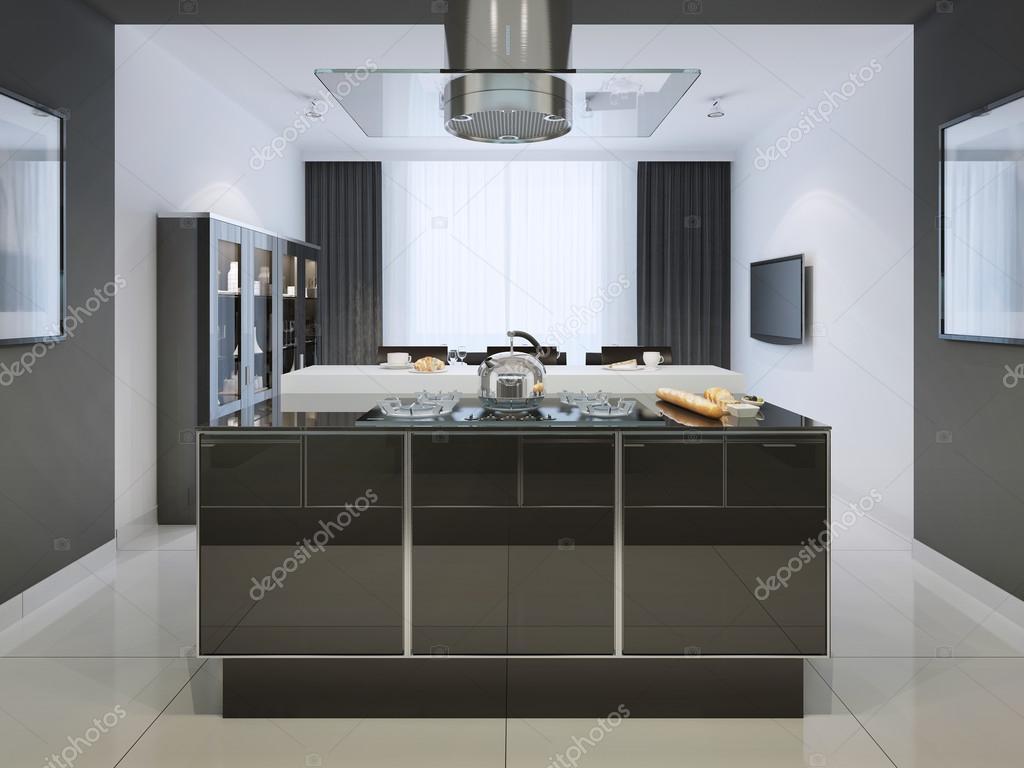 Idee von Insel-Bar am Techno-Küche — Stockfoto © kuprin33 #83413928