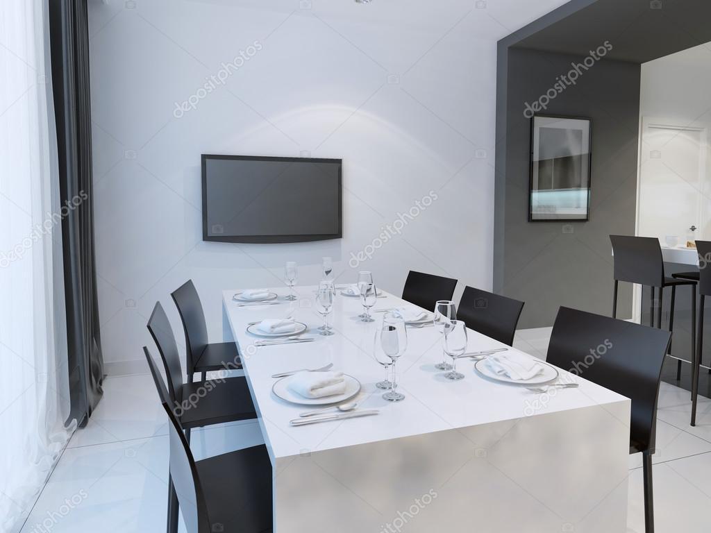 Fekete-fehér étkező trend — Stock Fotó © kuprin33 #83413934