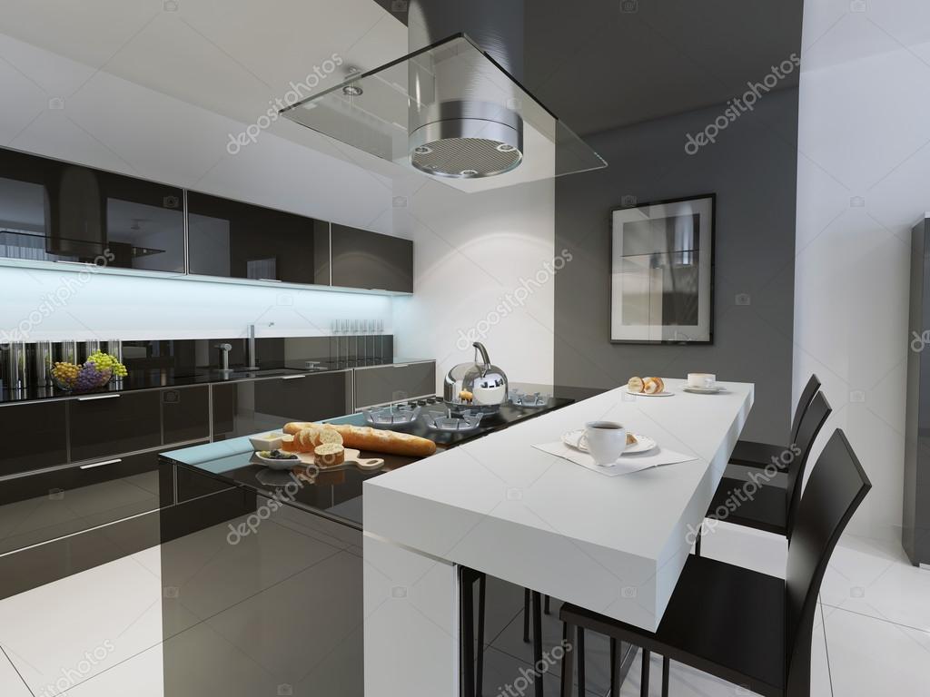 Zwart wit keuken trend u2014 stockfoto © kuprin33 #83413958