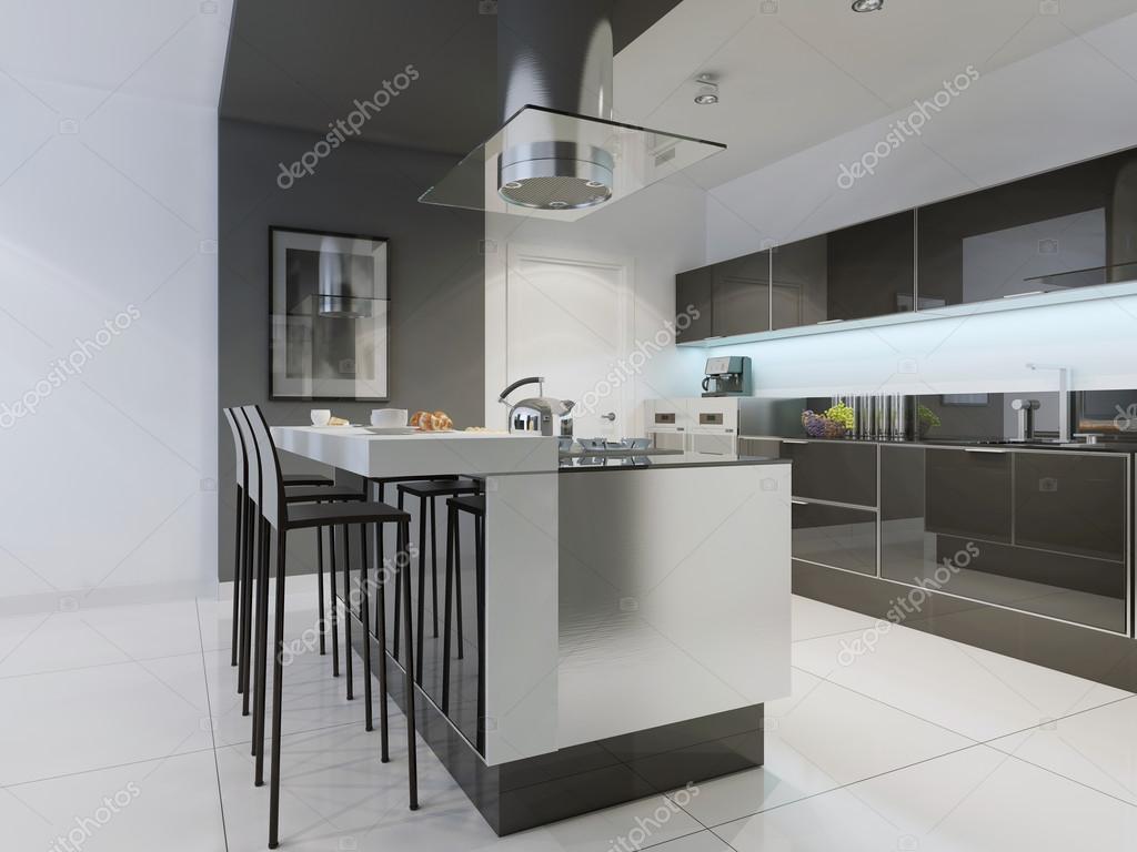 Projeto De Cozinha Moderna Com Ilha Stock Photo Kuprin33 83413962