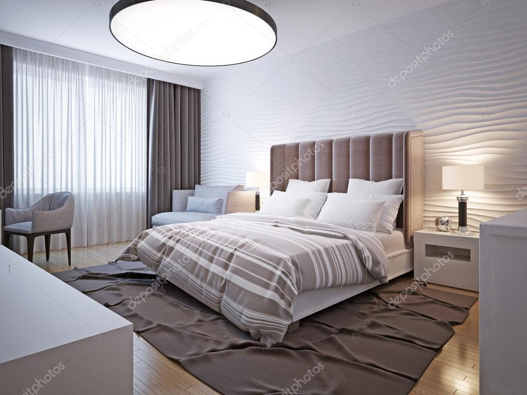 Style moderne grande chambre à coucher — Photographie kuprin33 ...
