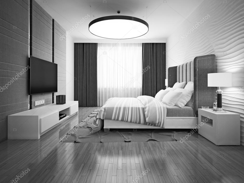 chambre coucher monochrome art d co photographie kuprin33 83414118. Black Bedroom Furniture Sets. Home Design Ideas