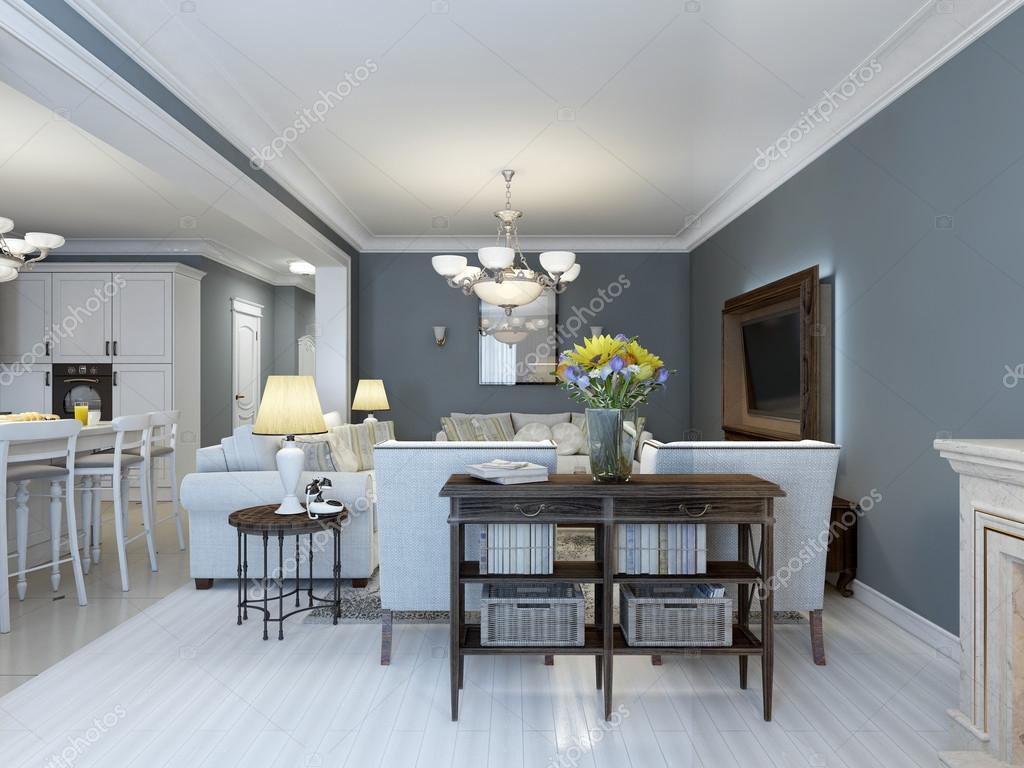 Idea della camera da letto Provenza con mobili bianchi — Foto Stock ...