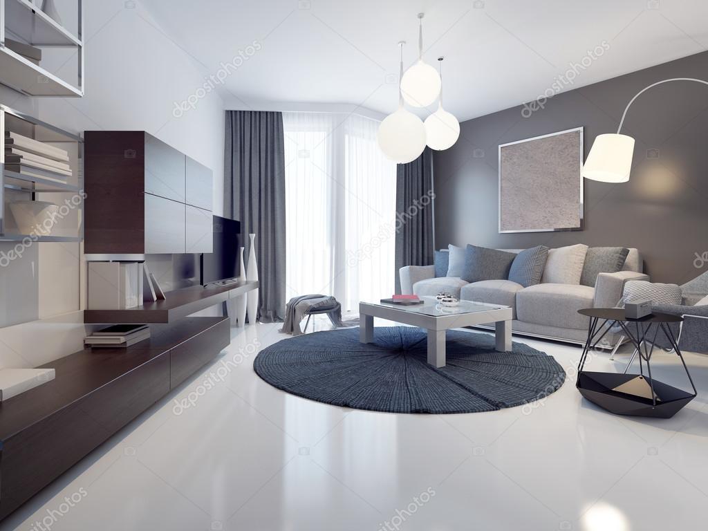 Idee van hedendaagse woonkamer — Stockfoto © kuprin33 #83415014