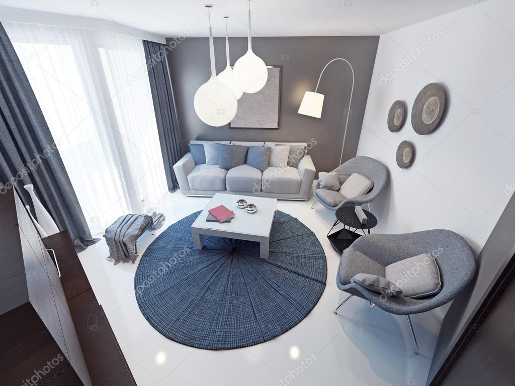 Minimalistischer Lounge Zimmer trend — Stockfoto © kuprin33 #83415072