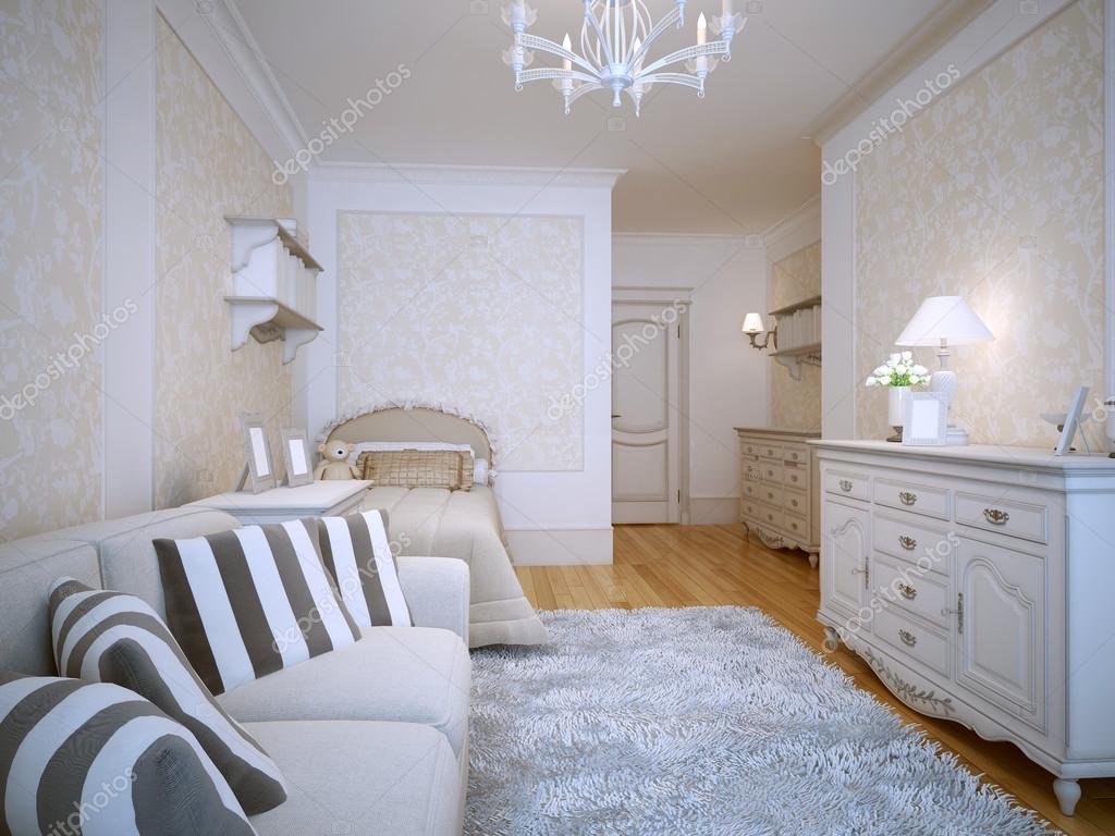 Stile classico spaziosa camera da letto — Foto Stock © kuprin33 ...