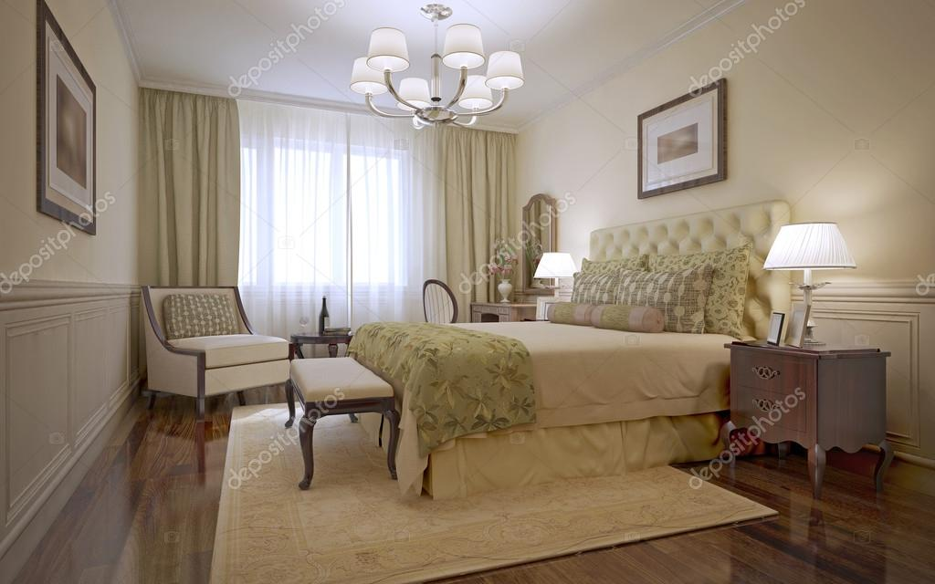 Luxe slaapkamer engelse stijl u stockfoto kuprin
