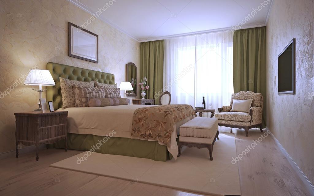 Luxus Schlafzimmer Mediterranen Stil U2014 Stockfoto
