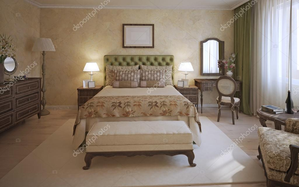 Master slaapkamer engelse stijl u stockfoto kuprin