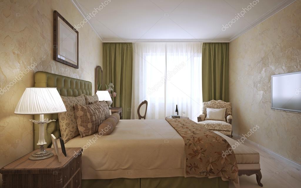 master slaapkamer engels ontwerp stockfoto