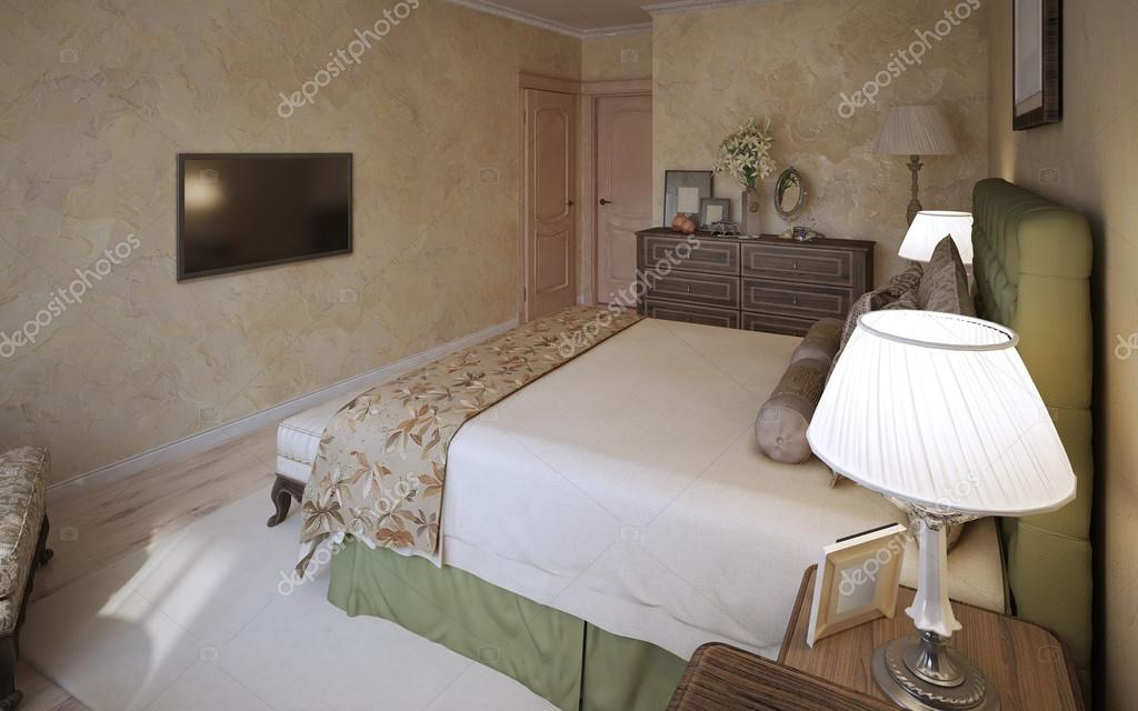 Master slaapkamer mediterrane ontwerp — Stockfoto © kuprin33 #83418834