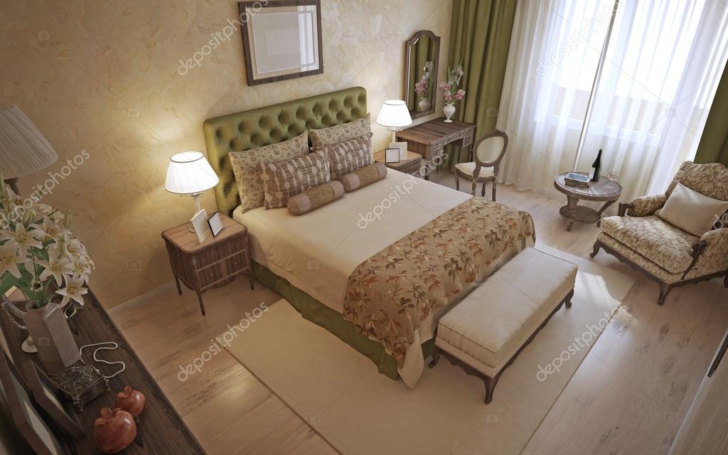 Camera da letto tradizionale inglese — Foto Stock © kuprin33 ...