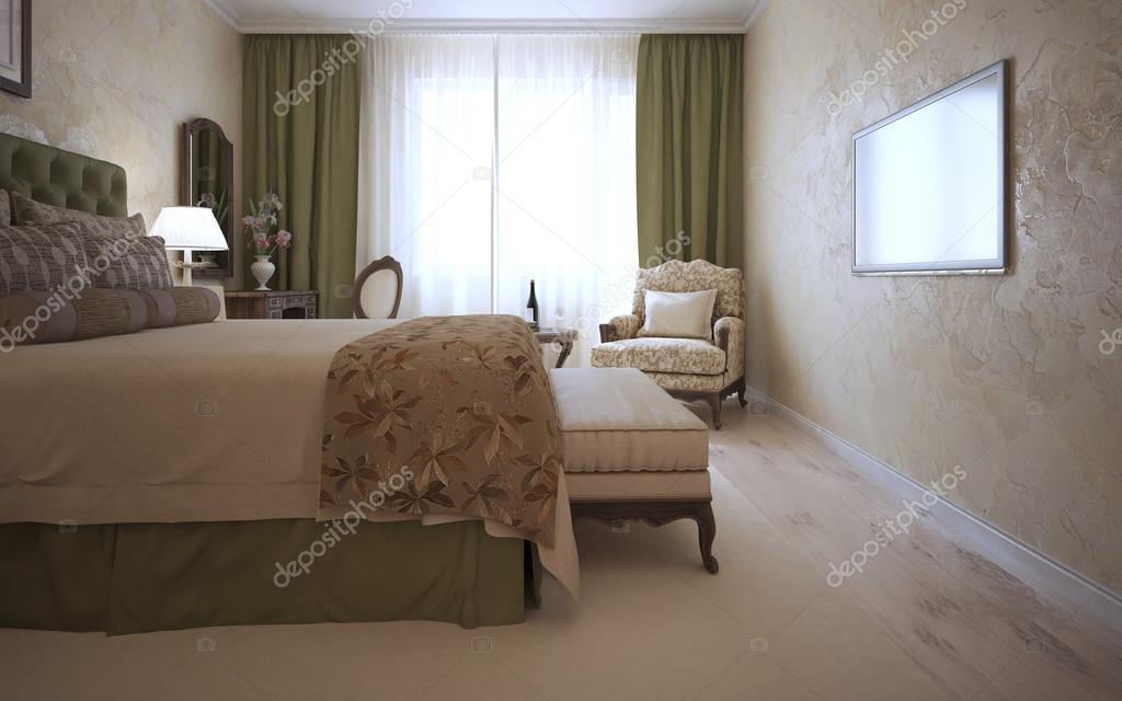 Gäste Schlafzimmer Im Mediterranen Stil U2014 Stockfoto