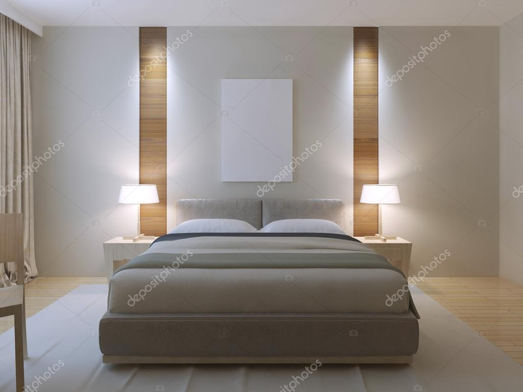 Moderne slaapkamer ontwerp u stockfoto kuprin