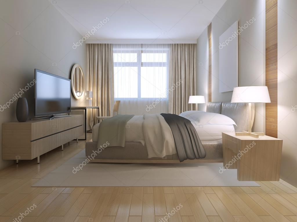 Camera da letto contemporanea design — Foto Stock © kuprin33 #83419088