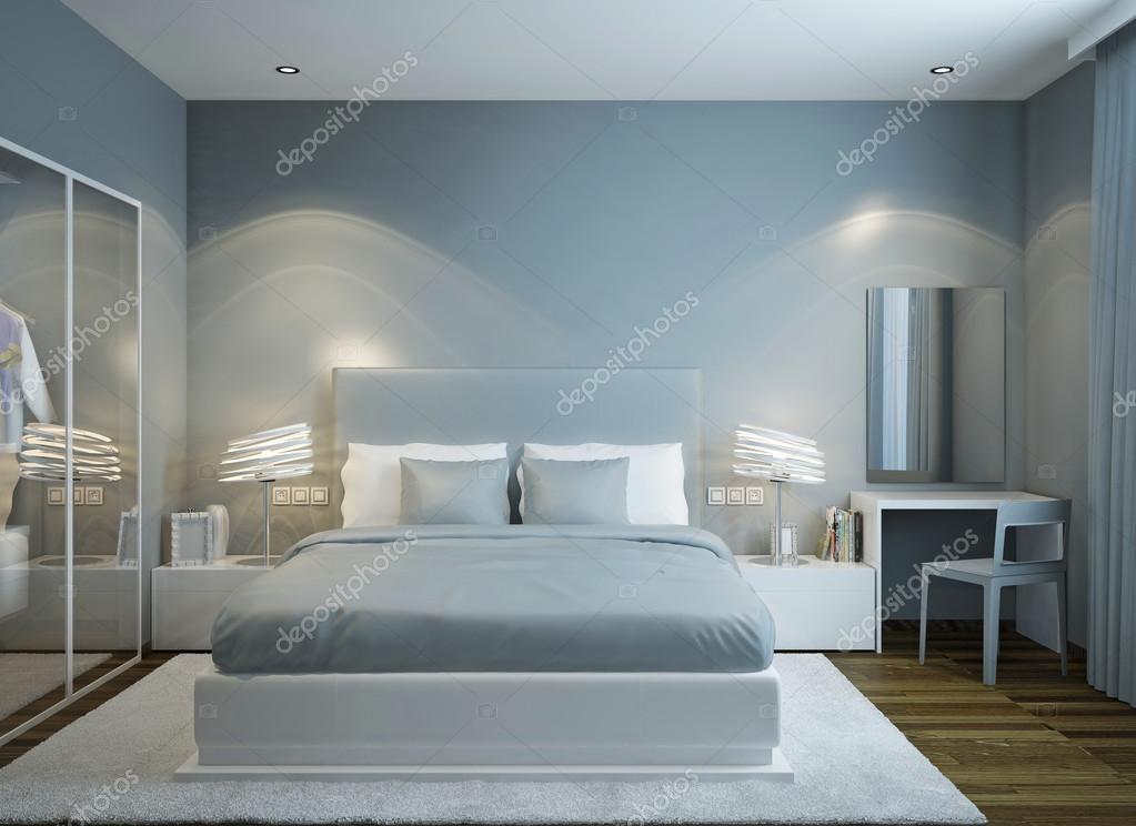 Master slaapkamer Scandinavische stijl — Stockfoto © kuprin33 #83419492