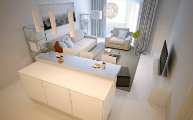 Living room studio modern style