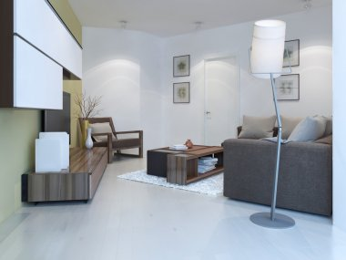 Small lounge in contemporary style