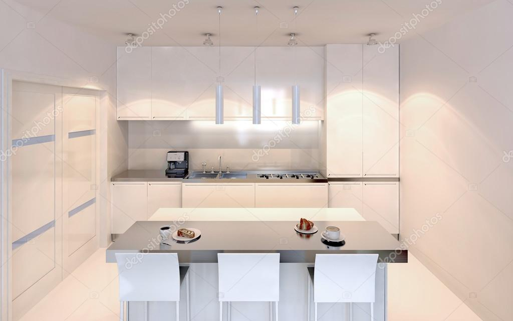 Stile contemporaneo cucina luminosa — Foto Stock © kuprin33 #83426658