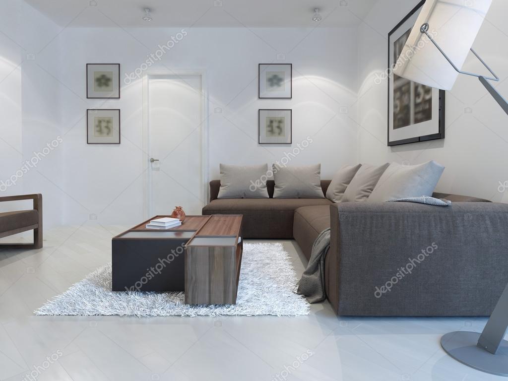 Weiße Wohnzimmer moderner Stil — Stockfoto © kuprin33 #83426900